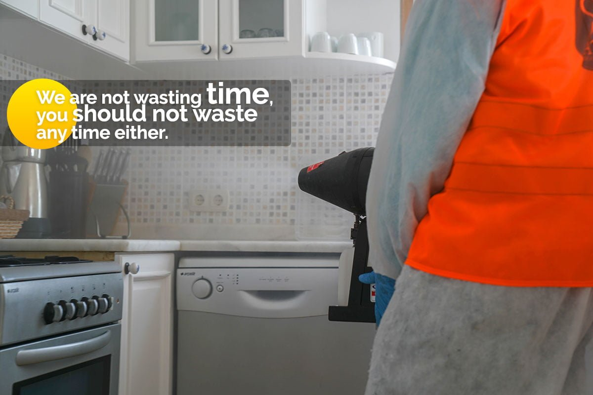 We are not wasting time, you should not waste any time either.